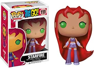Funko POP TV: Teen Titans Go! - Starfire Action Figure,Orange,4""