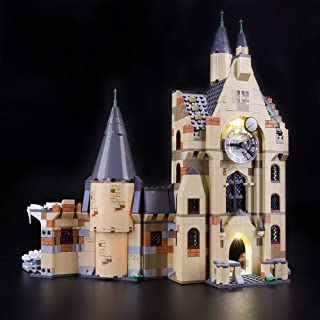 BRIKSMAX Led Lighting Kit for Harry Potter Hogwarts Clock Tower - Compatible with Lego 75948 Building Blocks Model- Not Include The Lego Set