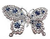 yueton New Crystal Rhinestone Butterfly Hair Clip Hair Accessories, Wedding Bride Headwear Hairpin