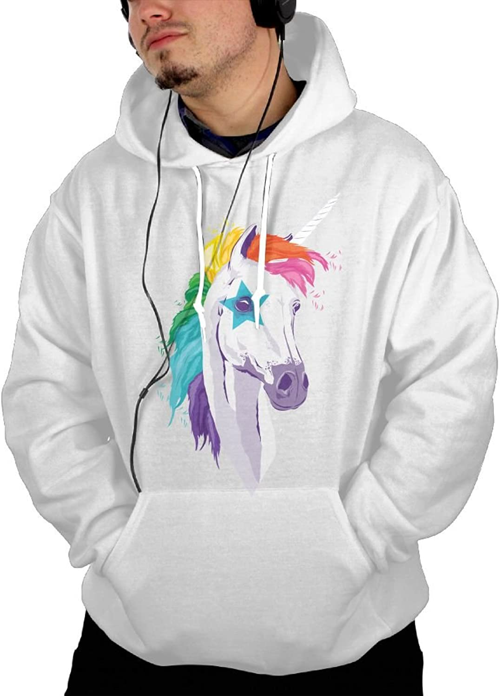2121VNB58 Unicorn Hoodies Fashion For Male Casual Long Sleeve Hoodie Sweatshirt
