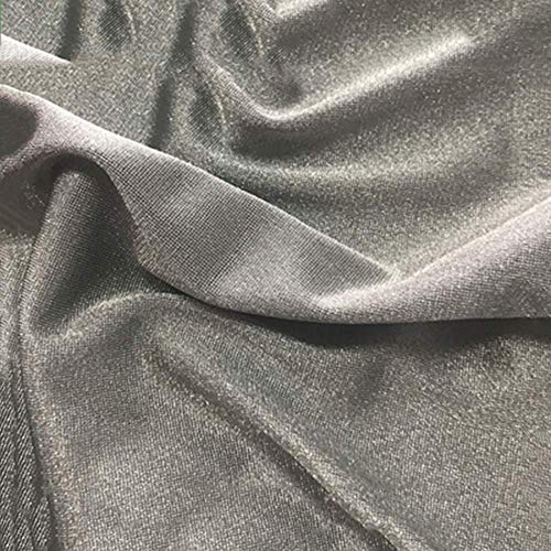 BRSL Tela fibrosa de Plata 1.5m de Ancho Plata esterlina Radiación antibacteriana Bolsillo Bolsillo Mujer Vestido de Vestir Ropa de bebé, 3m2 (Size : 3m2)