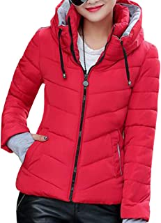 XFentech Winter Women's Collar Outdoor Jacket Short Down Cotton Coat Stand