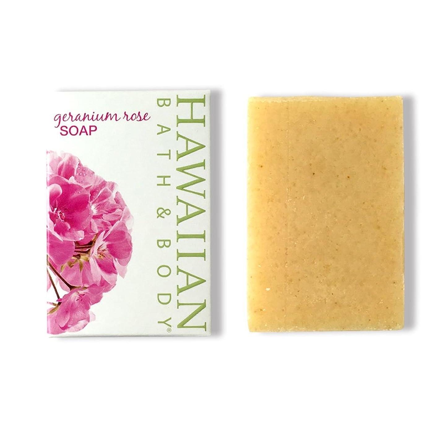 へこみ幸運思慮のないハワイアンバス&ボディ ゼラニウムローズソープ ( Geranium Rose Soap )