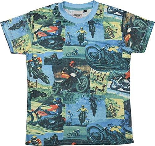 「ファイトクラブ」タイラーダーデン モトクロスTシャツ メンズ 半袖 S