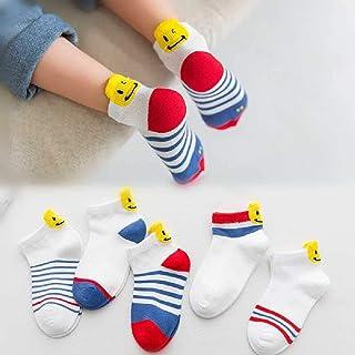 ZHANGNUO, Calcetines para Niños Calcetines De Algodón para Bebé Primavera Y Verano Estrellas Transpirables Lunares Calcetines De Algodón para Bebés