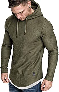 Fashion Hoodies Sport Sweatshirts for Men Casual Lightweight Fleece Pullover Athletic Hooded Shirts