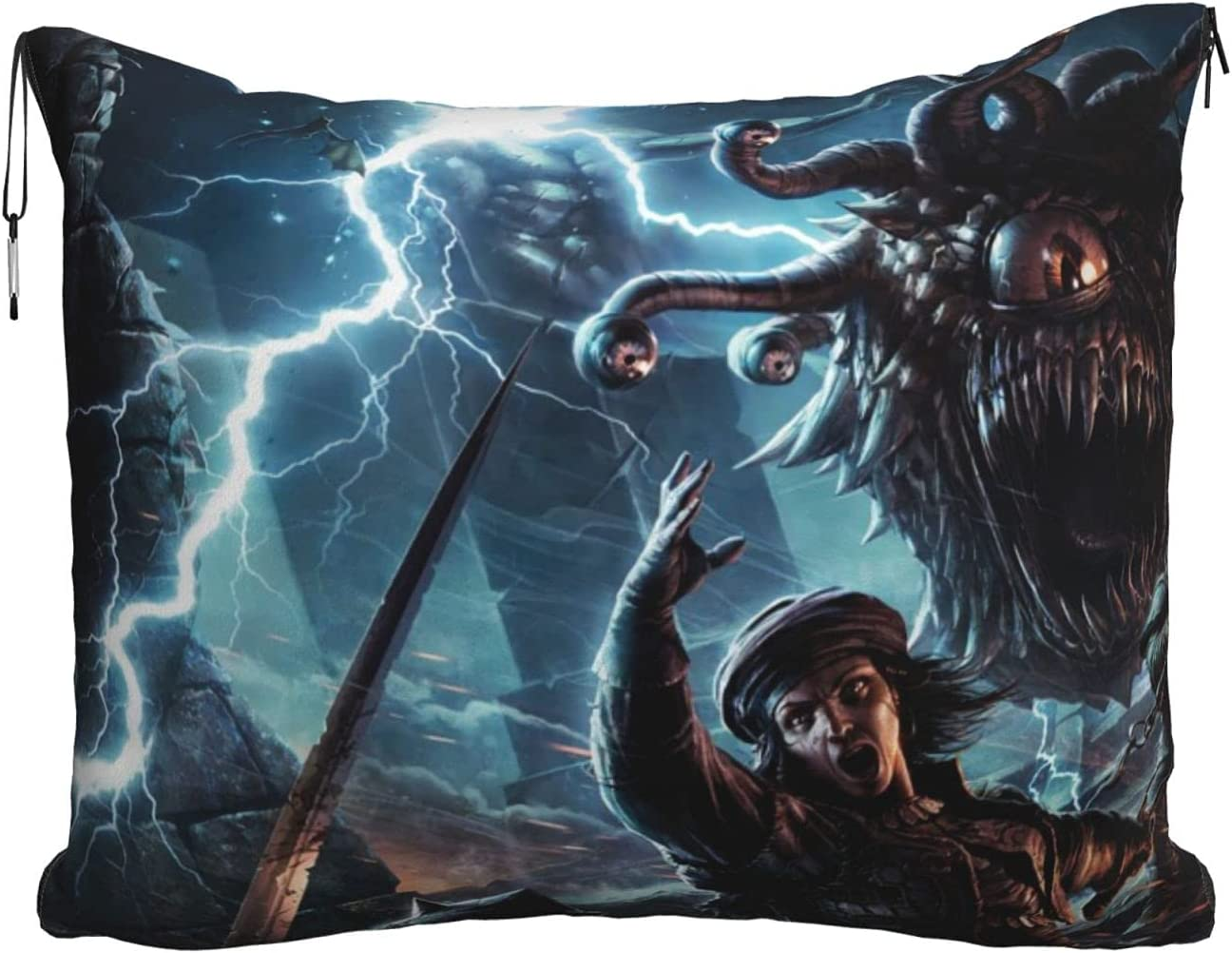 Dungeons Game Dragons Soft OFFicial Max 51% OFF site Travel Pillow Blanke Blanket Airplane