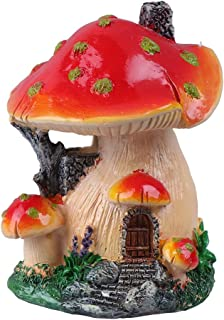 Cabilock Delicate Creative Mushroom House Model Landscaping Ornaments Miniature Micro Landscape Bonsai Fairy Garden Landsc...