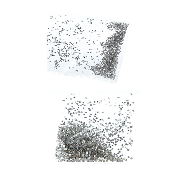 風が強い欠陥エチケットKesoto ネイルラインストーン ネイルアート ラインストーン クリスタル DIY 装飾 2袋 約2880個