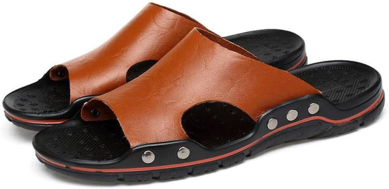 NUGKPRT flip flop Leather Slippers Men On Big Casual Mesa Mall Boston Mall Size Slip S