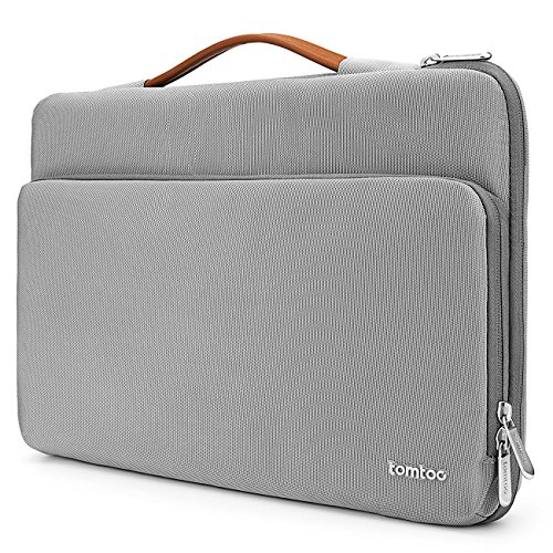 tomtoc 360 Protective Laptop Case for 15.6 Inch Acer Aspire 5 Slim Laptop, 15.6 HP Pavilion, 15.6 Inch ASUS ROG Zephyrus, 2020 New Dell XPS 17, More Dell Asus ThinkPad 15 Inch Chromebook, Grey