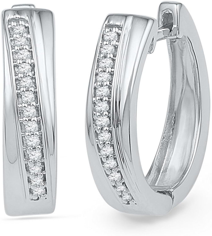 1 6 Total Carat Weight DIAMOND HOOPS EARRING