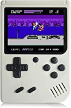 Losdz Handheld Game Console for Kids Adults, Portable Retro Video Games Consoles Built-in 168 Classic Game 3 inch Screen with AV Cable Can Play on TV(White)