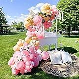 YSJJEFB Balloons 77pcs / Set DIY Macaron Pink Amarillo Amarillo Arch Kit DE Arch Globos para Decoraciones de Bodas Suministros de Fiesta de cumpleaños para niños (Color