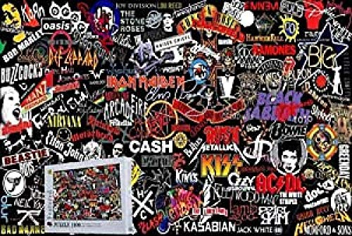 Puzzle De Madera 1000 Piecestop Rock Band Logo Puzzle De Madera Arte Juguetes Educativos Regalos 50X75Cm,Jigsaw Puzzle