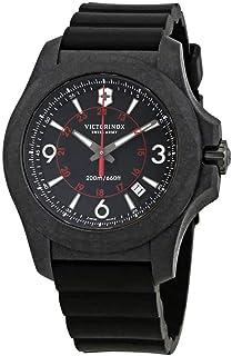 Victorinox I.N.O.X. Carbon Black Dial Mens Rubber Watch 241777