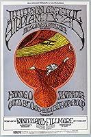 Jefferson Airplane Greatful Dead in Concert画像ポスターアートonマウスパッドマウスパッドコンピュータデスクトップ供給クラシックヴィンテージ古い音楽