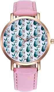 Lady Kiwi patrón de Fruta Correa de Cuero Simple Reloj de Cuarzo analógico Reloj de Pulsera Casual niña Femenina