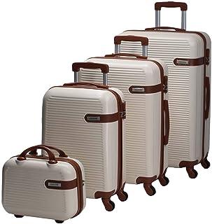 تشاليش حقائب سفر بعجلات للجنسين 4 قطع ، اوف وايت