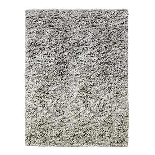 HAY Shaggy Teppich 140x200cm, warmgrau handgewebt Reine Wolle
