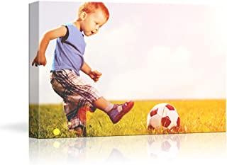 NWT Custom Canvas Prints with Your Photos for Kids Aging, Personalized Canvas Pictures for Wall to Print Framed 16x20 inches