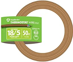 Southwire 64169622 5 Conductor 18/5 Thermostat Wire, 18-Gauge Solid Copper Class 2 Power-Limited Circuit Cable, 50-Feet, B...
