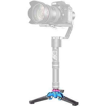 Neewer Foldable Tripod Monopod Stand Base Three Feet Support with 1/4 inch Screw for DSLR Camera Monopod Zhiyun Crane V2/ Crane M/Smooth Q/Smooth 3 III II/Feiyu G4 3-Axis Handheld Gimbal Stabilizer