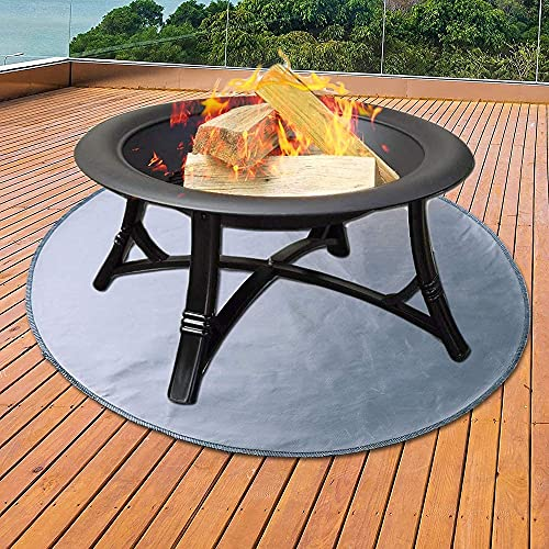 Fire Pit Mat Grill Mat,Round Fire Pit Pad for Wood Deck,Lawn Fire Pit Pad,for Wood Burning Fire Pit,Gas Fire Pit,Charcoal Grill,BBQ Smoker