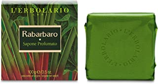 L'erbolario Loti L'erbolario Bar Soap - Rhubarb - Aromatic, Woody Scent - Made With Coconut, Sunflower & Rapeseed Oilto Cl...