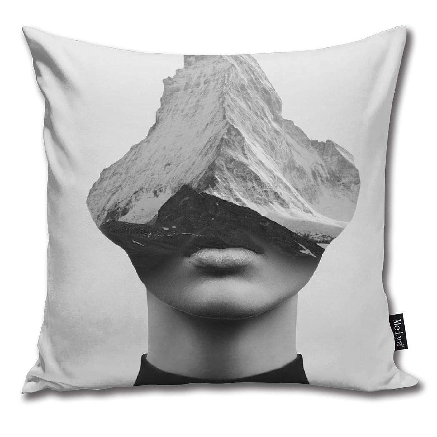 洞窟放射する一定枕インナー強度装飾枕カバーソファとソファ用クッションカバー45x45 cm