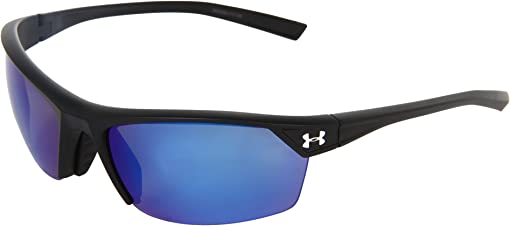 Satin Black/Blue Mirror Polarized