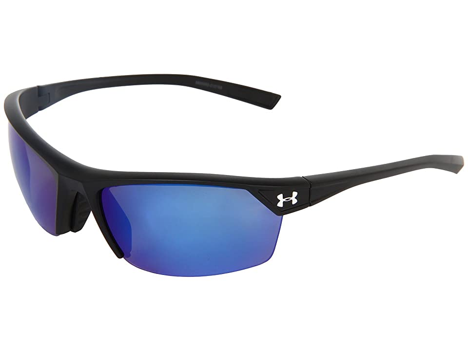 Under Armour UA Zone 2.0 (Satin Black/Blue Mirror Polarized) Sport Sunglasses