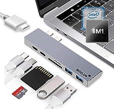 新型 M1 MacBook Air & M1 MacBook 対応 / 2016以降のMacbook,2016以降のMacbook Airに対応 【Type-C アルミニウムドッキングステーション (スペースグレイ):USB-C(100W PD...