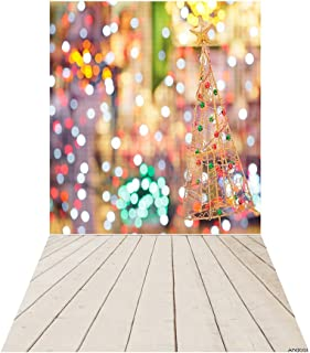 Christmas Backdrop,Andoer 1.5 * 0.9m/4.9 * 3.0ft Christmas Backdrop Photography Background Glitter Spot Wood Floor Picture...