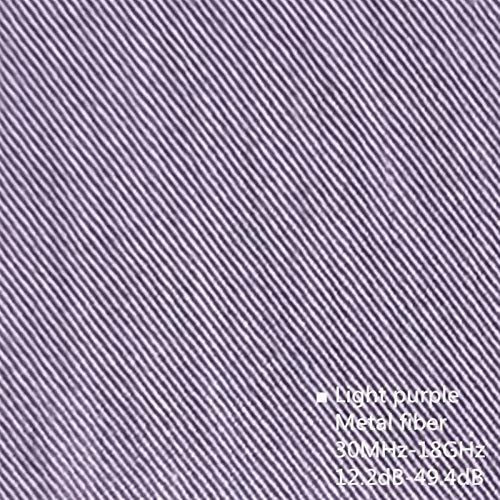 BRSL Auténtico Anti-electromagnético Tela de radiación doméstica Estación antiscidental Radiación Blindaje electromagnético Paño de Fibra de Metal (Color : Light Purple MTF, Length : 1m)