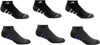 Adidas Men's 6-pair Low Cut Sock with Climalite White Black Regular and Extended Sizes