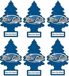 Little Trees 6 Air Freshener (New Car Scent), 6 Pack