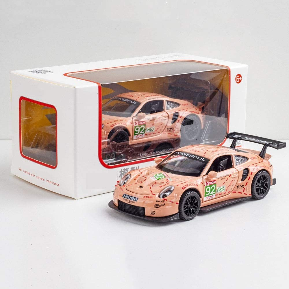 DBXMFZW 1 Year-end gift 32 Scale Simulation 911RSR Model OFFicial store Pull Car Sports Alloy