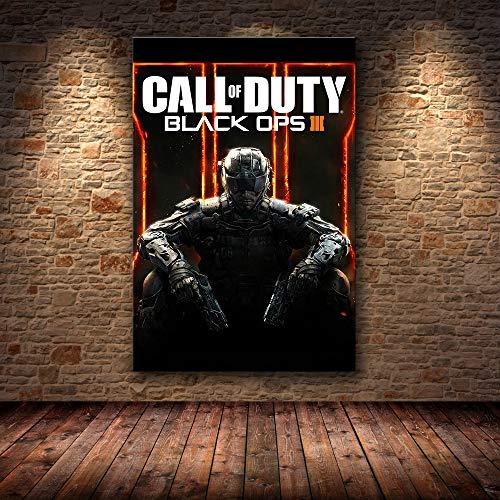 PCCASEWIND Cuadros Decoracion Call of Duty Modern Warfare Wall Art Canvas Poster Y Print Canvas Painting Imagen Decorativa para Dormitorio Decoración para El Hogar (50X70Cm),Wkh-696