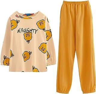 GOSO Girls' Pajama Sets Size 12 14 16 18 Cute Print Pjs for Teens Cartoon Print Tops and Long Pants Big Tween Girl Nightwe...