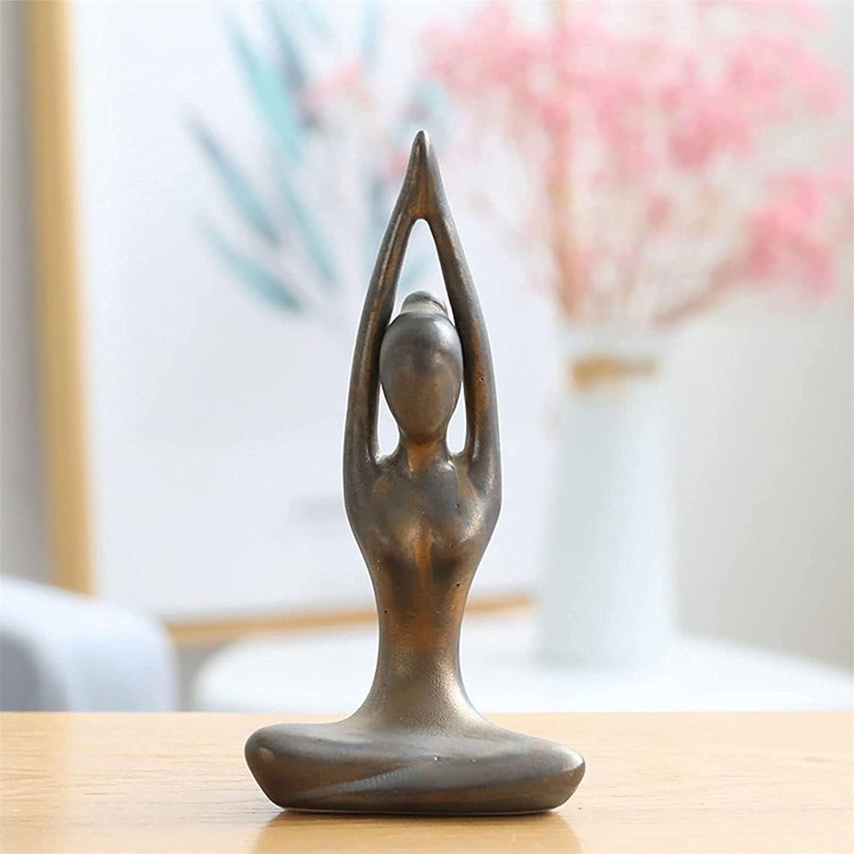 RUIHANG Max 88% OFF Ceramic New arrival Meditation Decor Yoga Pose Shel Figurine Statue