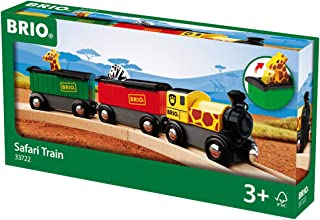 BRIO World - 33722 Safari Train | 3 Piece Toy Train Accessory for Kids Age 3 and Up