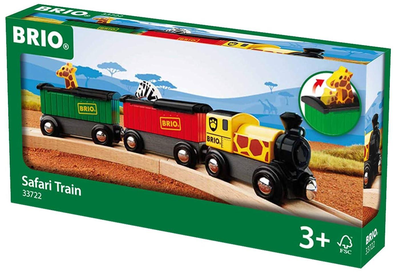 BRIO World - 33722 Safari Train   3 Piece Toy Train Accessory for Kids Age 3 and Up