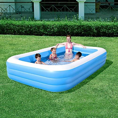 K99 DREI-Ring Rechteckiges Aufblasbarer Pool Kinderanimation Becken Im Innen- Und Außen Entertainment-Center Pool Aufblasbare Kunststoff-Wanne 305 * 183 * 56CM