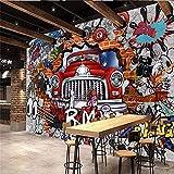 Mural estéreo coche 3D personalizado Ktv Bar personalidad Retro europeo papel pintado Mural para niños Mural Pared Pintado Papel tapiz 3D Decoración dormitorio Fotomural sala sofá mural-400cm×280cm