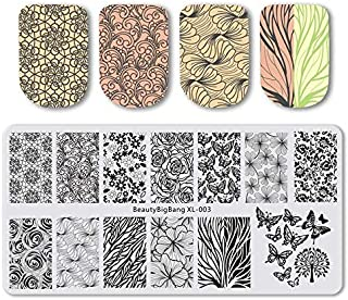 612Cm Stamping Plate For Nails Stainless Steel Peacock Feather Nail Stamping Plates Template Nail Art Stencils 3