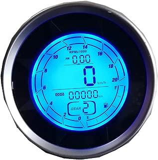 GO AND STOP Motorcycle Tachometer Speedometer Motorbike Odometer Trip Meter Average Speed Cylinder 1 2 4 8 SX-05
