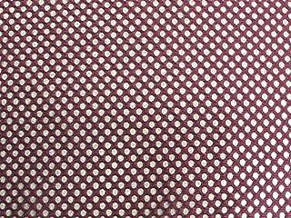 SyFabrics Sports Football Jersey mesh Fabric 58 inches Wide Dark Burgundy