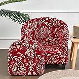 Funda de sofá elástica para bañera, 2 piezas, para sillón, a prueba de polvo, universal, extraíble, lavable, protector de muebles, fundas de spandex para sofá, sala de estar, café (estilo Sherlock)