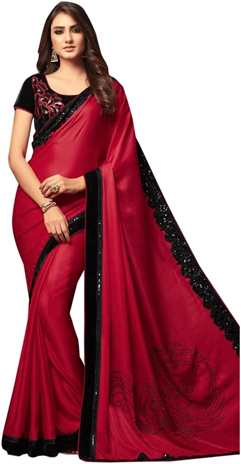 Bollywood Bridal Saree Sari for Women Collection Blouse Wedding Party Wear Ceremony 828